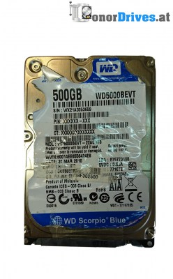 Western Digital WD500BEVT -WD500BEVT-22A0RT0 - 500GB
