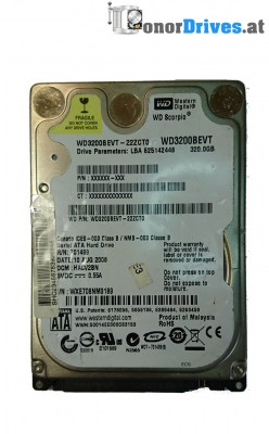 Western Digital WD3200BEVT - WD3200BEVT-22ZCT0- 320GB