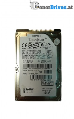 Hitachi Travelstar - HTS541040G9AT00 - IDE - 40 GB - PCB 320 0A21010 01