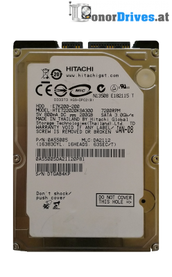 Hitachi HTS545032B9SA02-5K500 B-320- SATA - 320 GB - 220 0A90161 01 Rev.