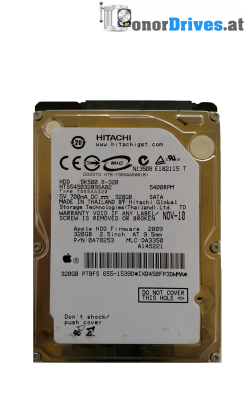 Hitachi HTS541612J9SA00-0A50686- SATA - 120 GB - 220 0A28613 01 Rev.